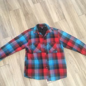 North Face lined flannel Medium